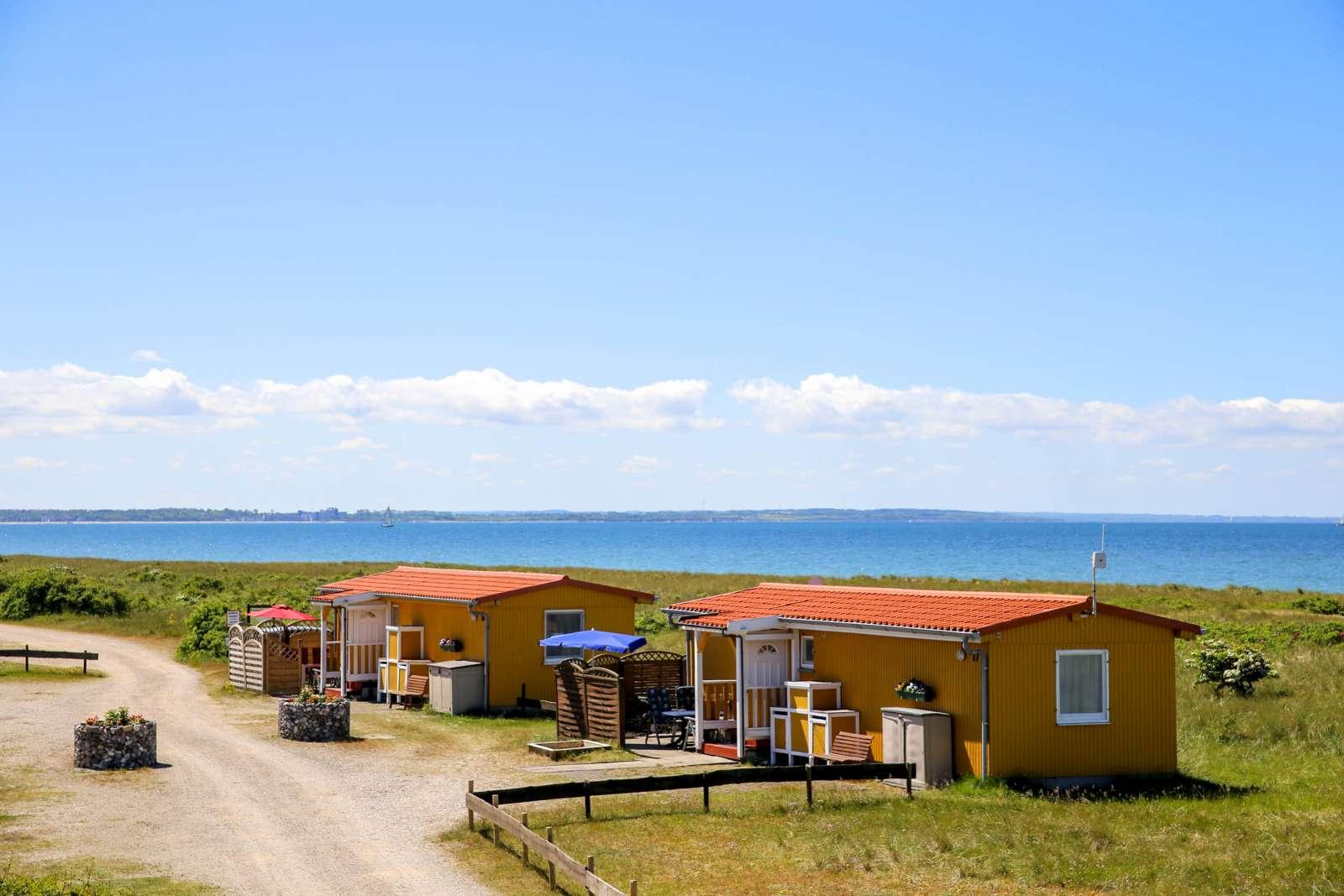 Ferienhäuschen am Strand auf Fehmarn - Camping Flügger Strand